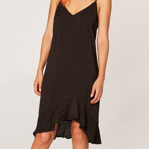 Lacausa ruffle slip dress